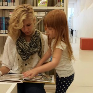 Der Kindergarten in der Bibliothek